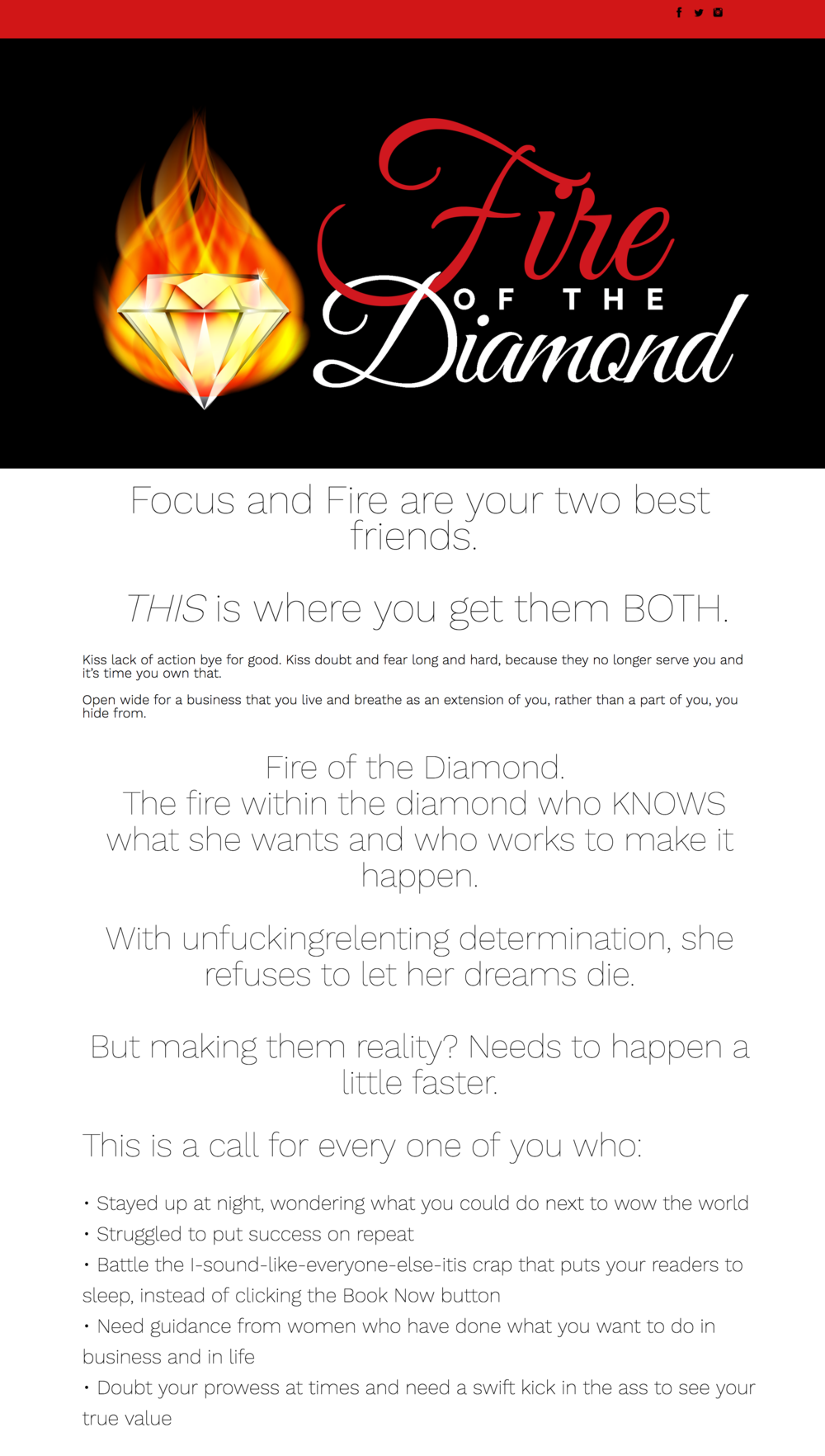 Fire of the Diamond - Ontrapages
