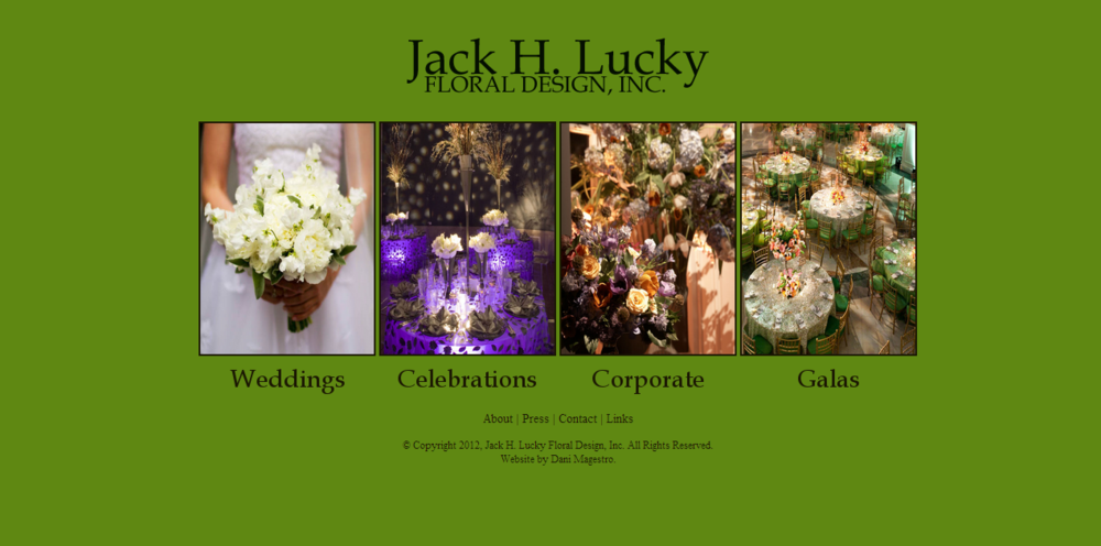 Jack Lucky Floral Design - Static HTML/Custom