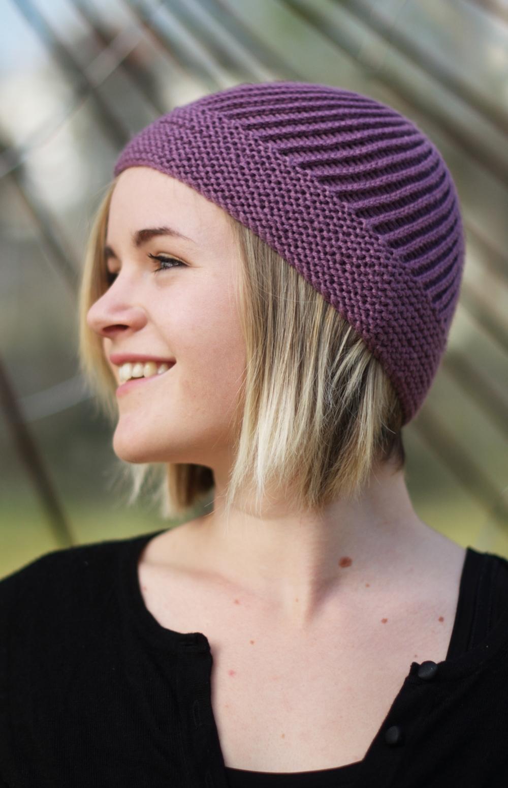 Kilkanna bias knit Hat pattern