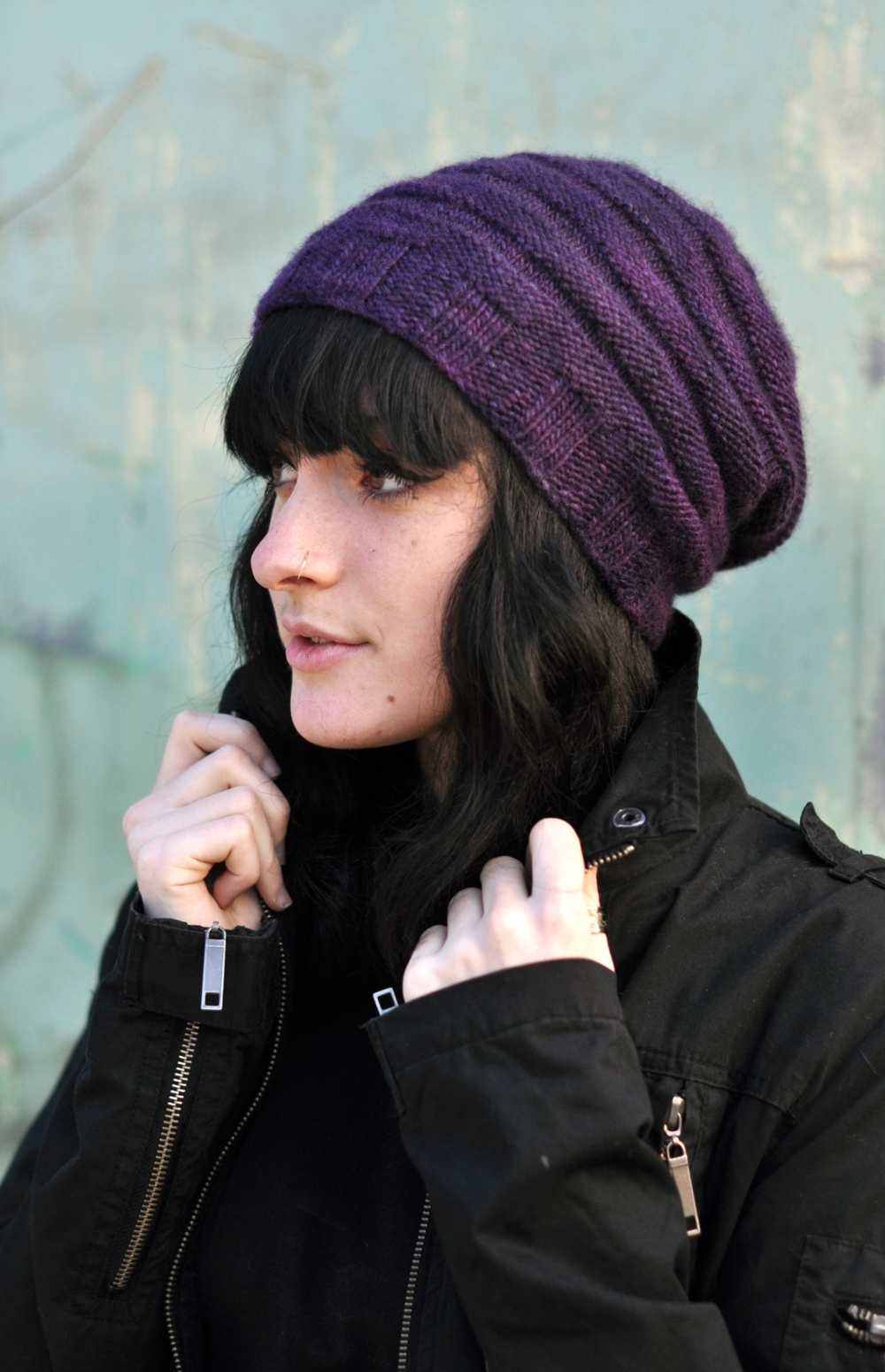 Alveare slouchy knitting Hat pattern for worsted — Woolly Wormhead