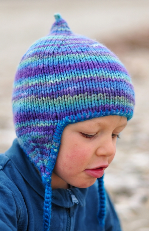 Bimple Pixie Chullo Kids Hat Knitting Pattern In Bulky Woolly Wormhead