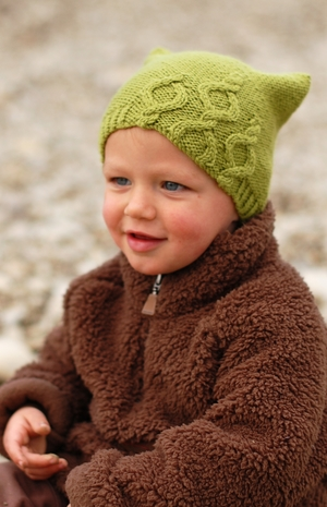 Bubbles Cabled Kids Hat Knitting Pattern For Worsted Woolly Wormhead