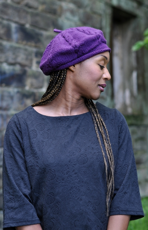 Cabled Cap Hand Knitting Beret Pattern For Aran Woolly Wormhead