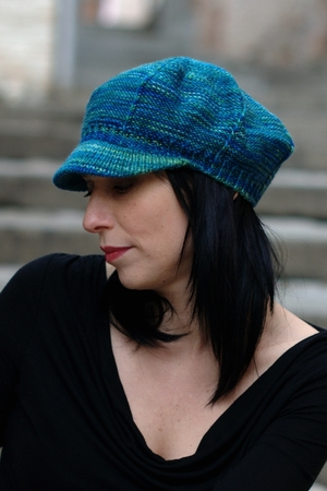 4c7f44fe472 Camden Cap peaked brim hand knitting pattern for worsted — Woolly ...
