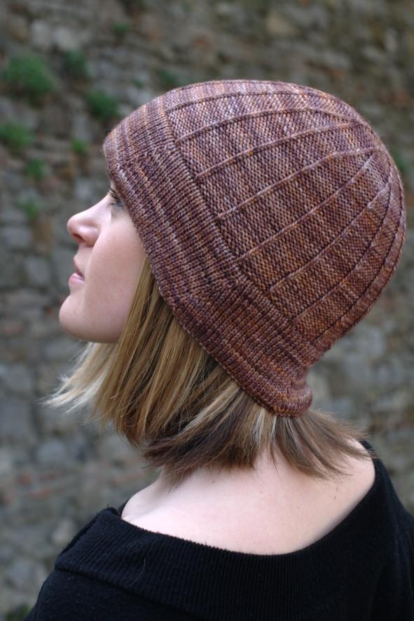 Corbelle brimmed Hat knitting pattern