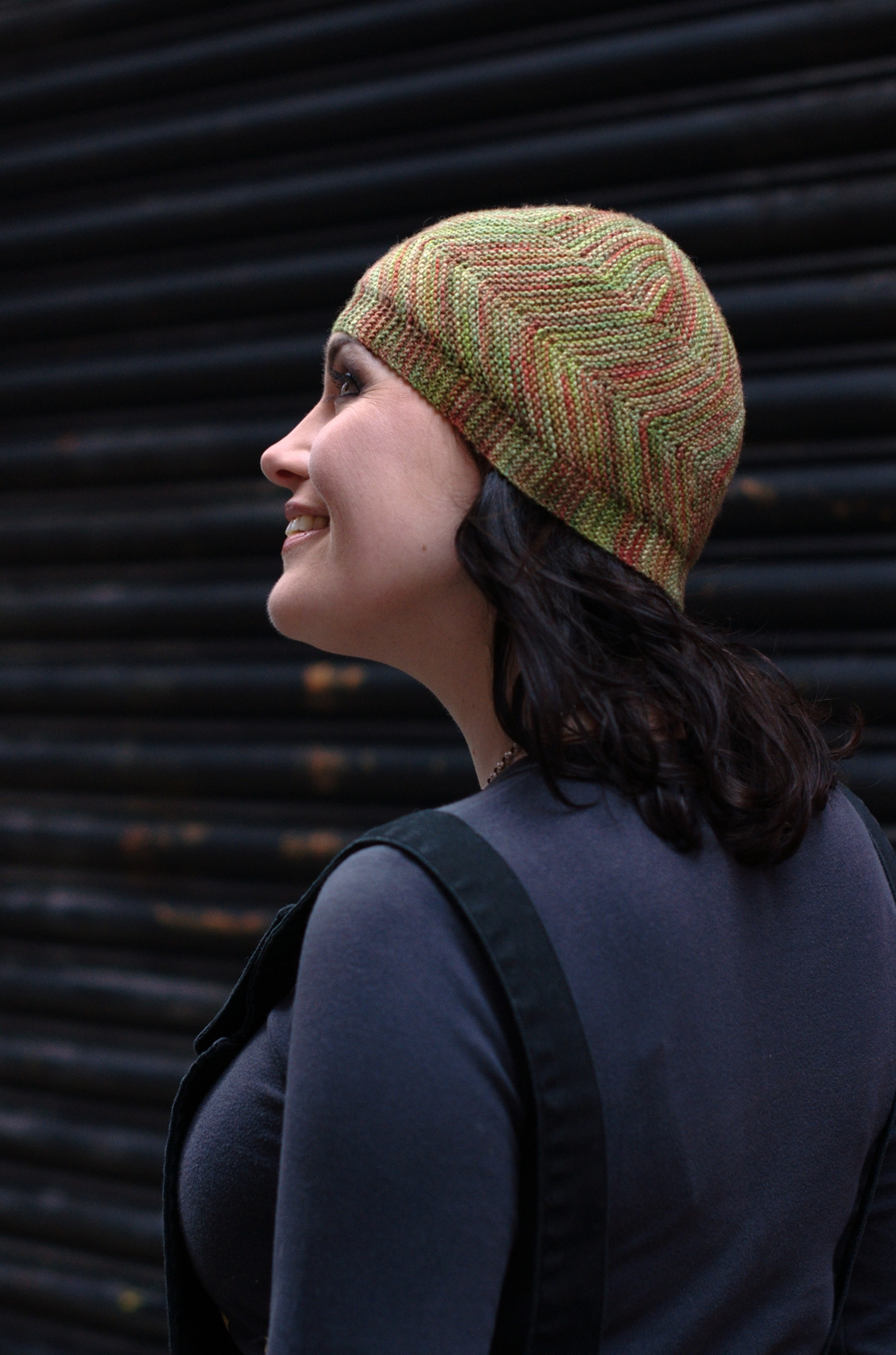 Dancette sideways knit Hat pattern