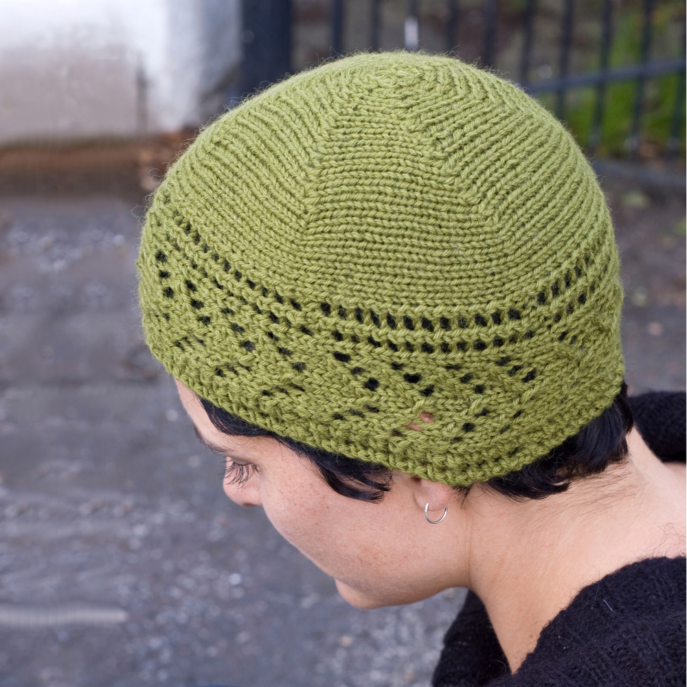 Dryad sideways knit lace Hat pattern