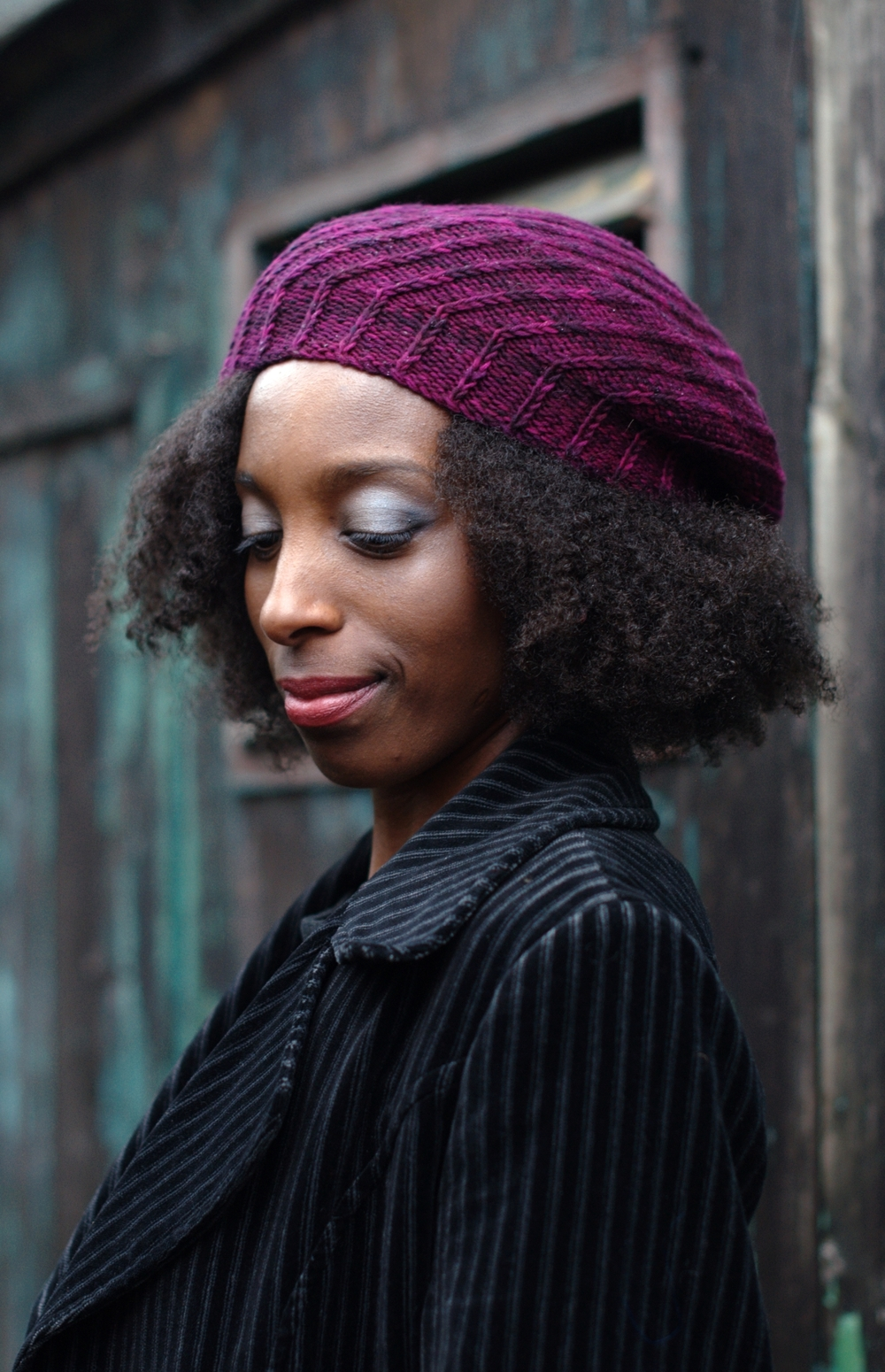 Elsica spiral beret knitting pattern
