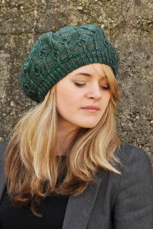 Erica Peaked Brim Hat Knitting Pattern Woolly Wormhead