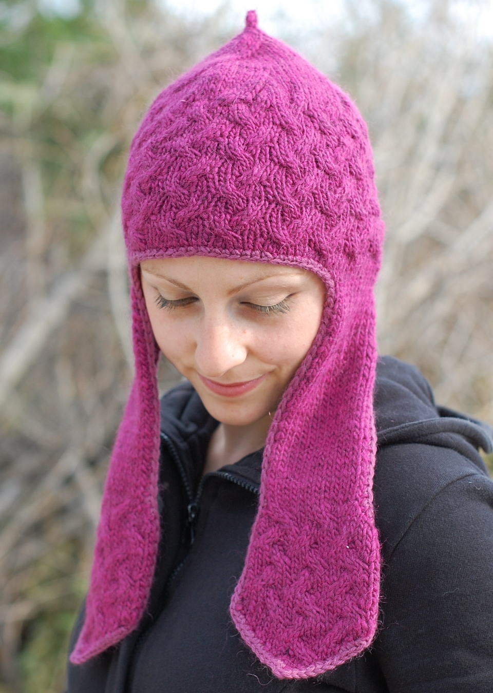 Flappy Cabler chullo Hat knitting pattern