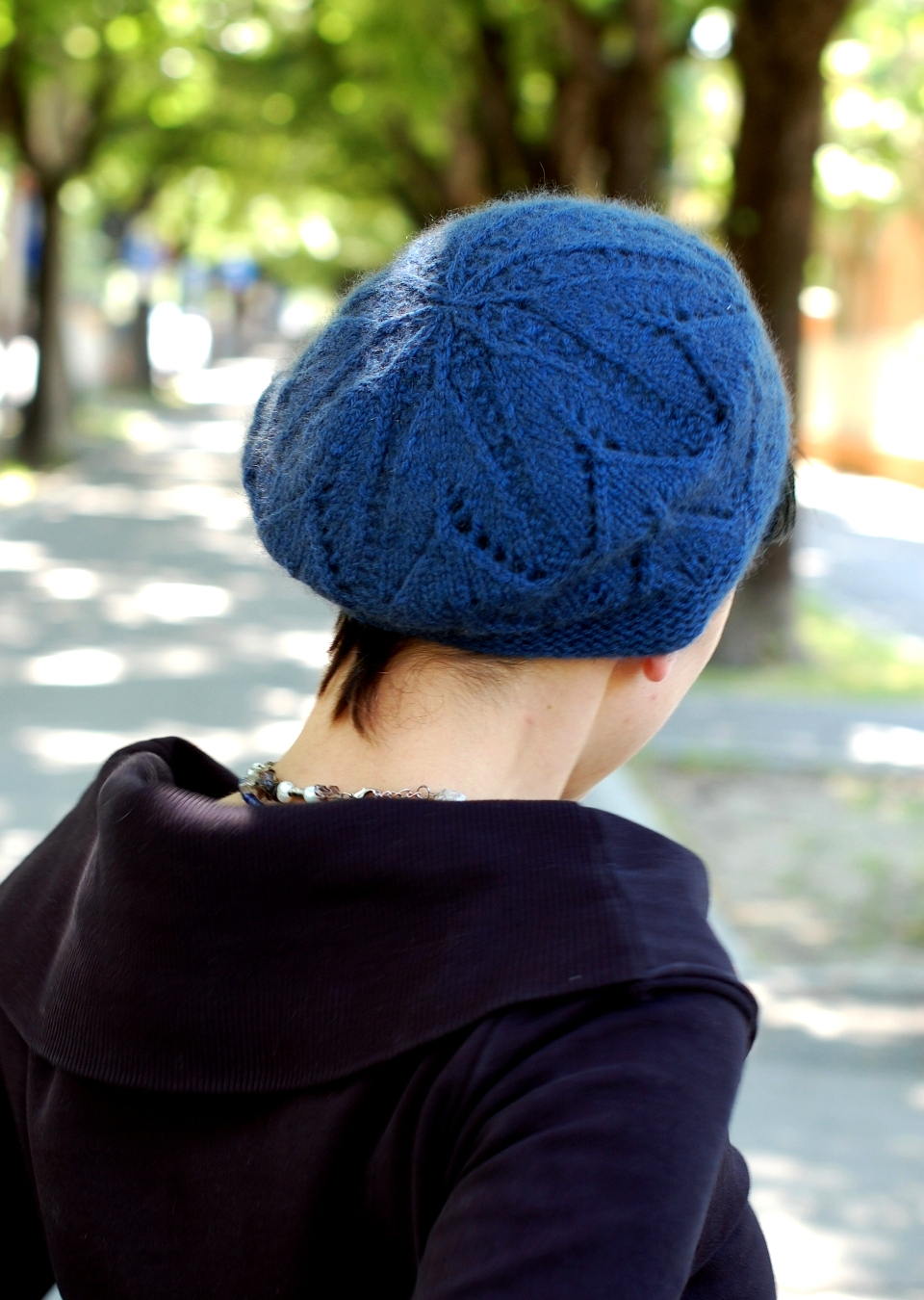 Ivydene lace beret knitting pattern