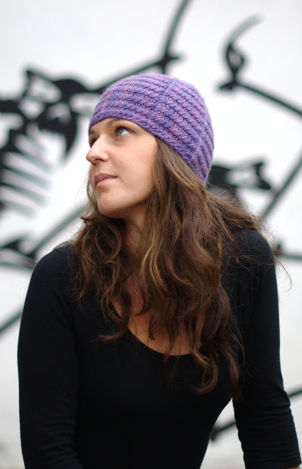 Lenina sideways knit cable Hat pattern