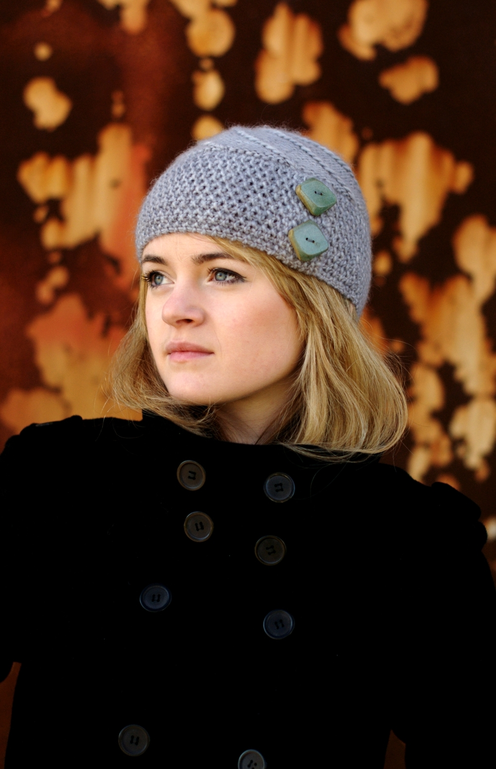 Lexie buttoned Hat knitting pattern
