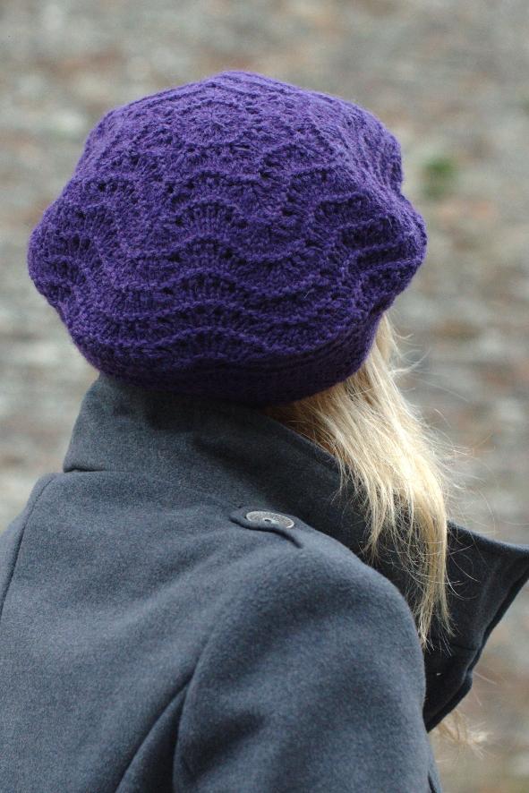 Knitting Pattern Mens Beret : Mayrose lace beret knitting pattern   Woolly Wormhead