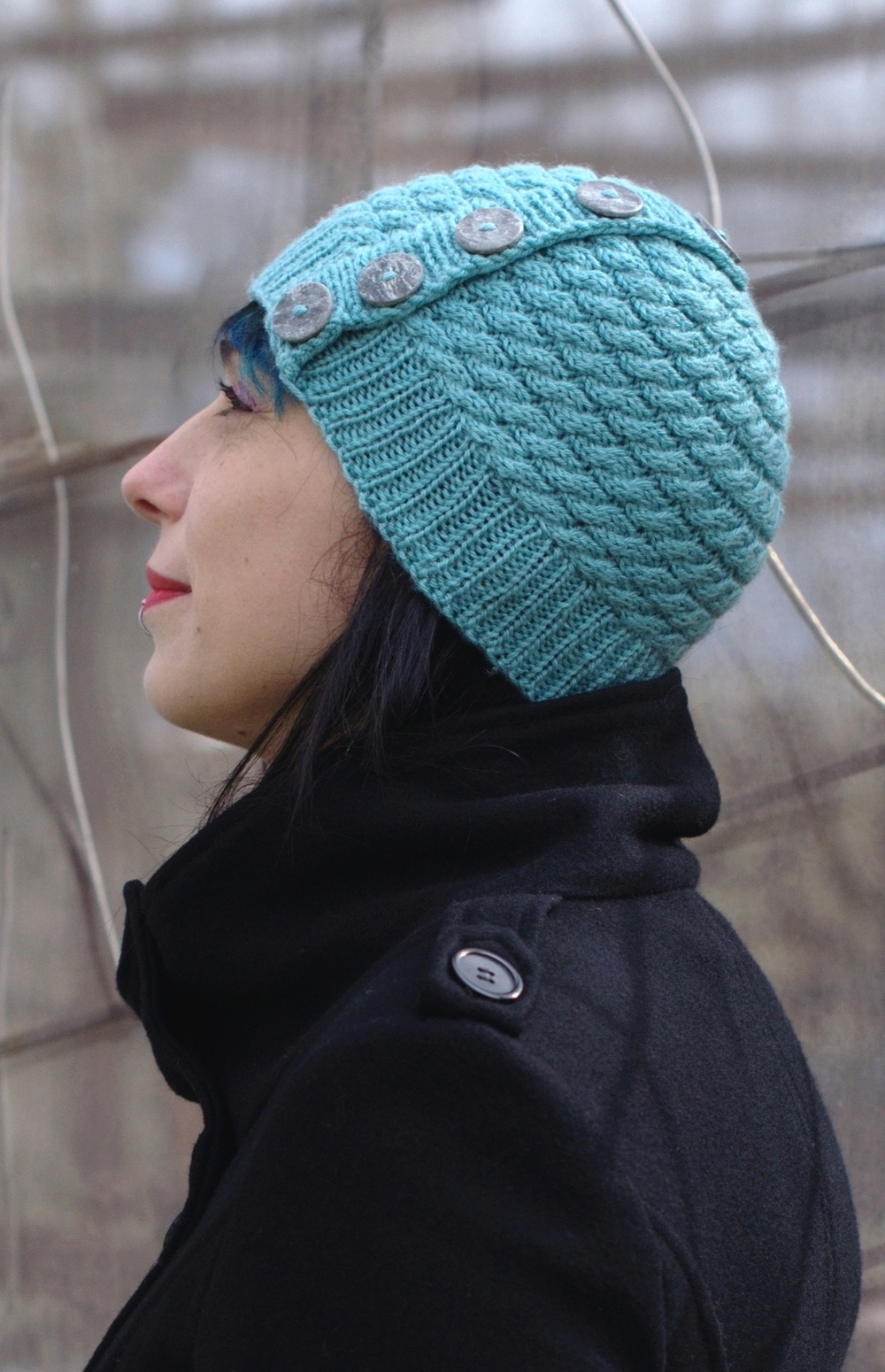 Niamh sideways cable Hat knitting pattern