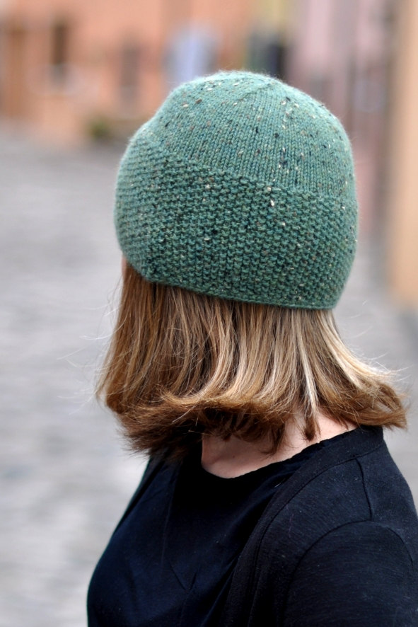 Ravine asymmetrical cloche Hat knitting pattern