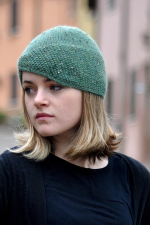 Ravine Asymmetrical Cloche Hat Knitting Pattern Woolly Wormhead