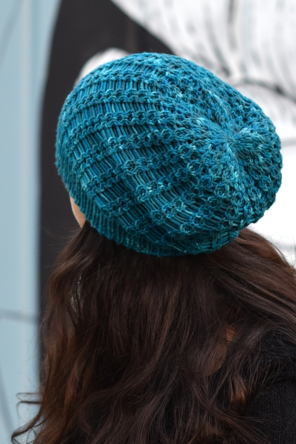 Scala slouchy lace Hat knitting pattern