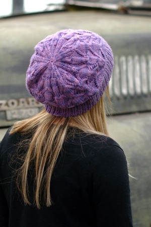 d5f9b1f98c2 Starburst slouchy lace Hat knitting pattern for aran — Woolly Wormhead