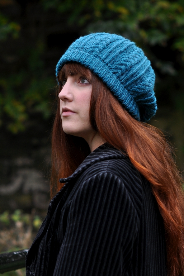 Tamya cable beret knitting pattern