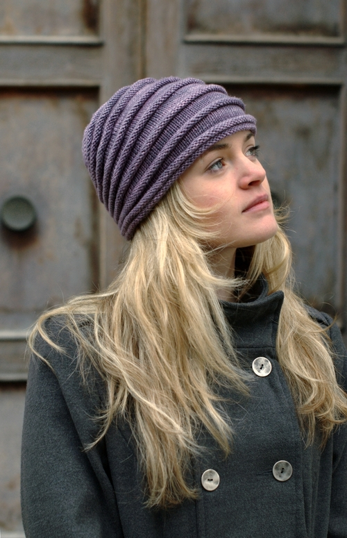 Tucked sculptural Hat hand knitting pattern in DK — Woolly Wormhead