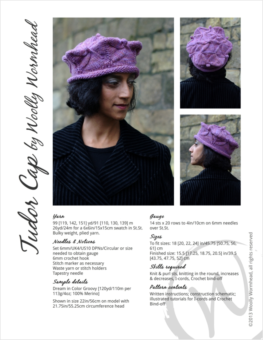 Tudor cap sculptural hat hand knitting pattern in bulky woolly tudor cap sculptural hat hand knitting pattern bankloansurffo Choice Image