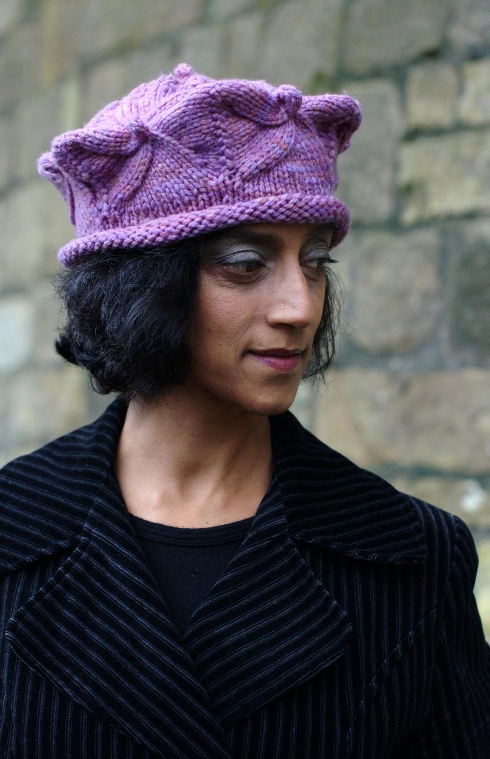 Tudor Cap sculptural Hat hand knitting pattern