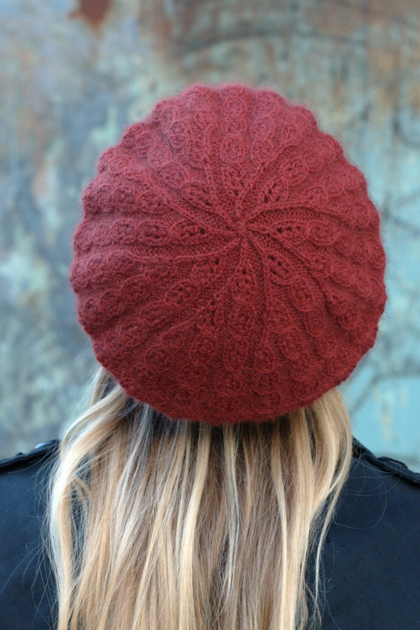 Vernalis lace beret knitting pattern