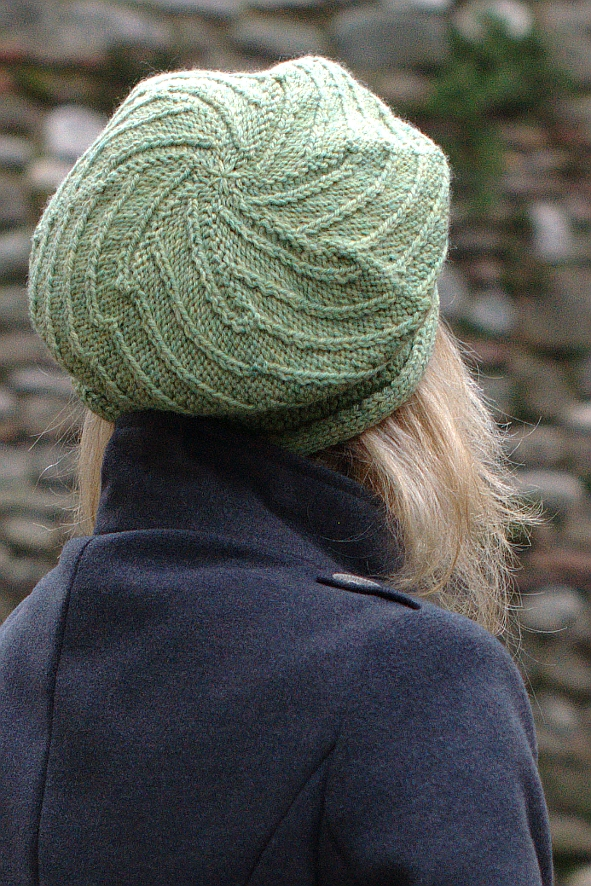 Vlora sideways knit brimmed Hat pattern