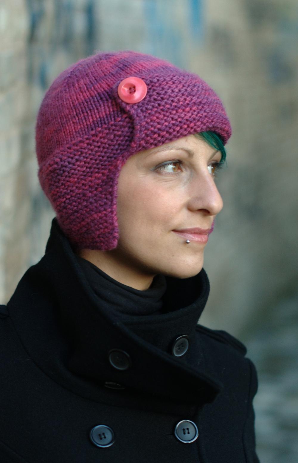 Karenin aviator style Hat knitting pattern