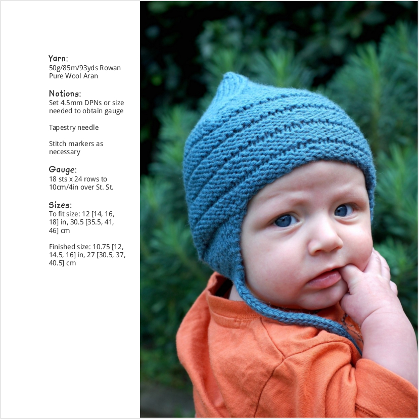 Buzzba pixie chullo Hat knitting pattern for babies and children