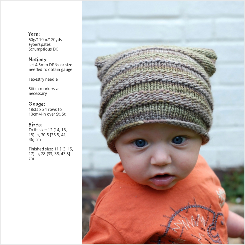 Tubey Hat knitting pattern for babies and children