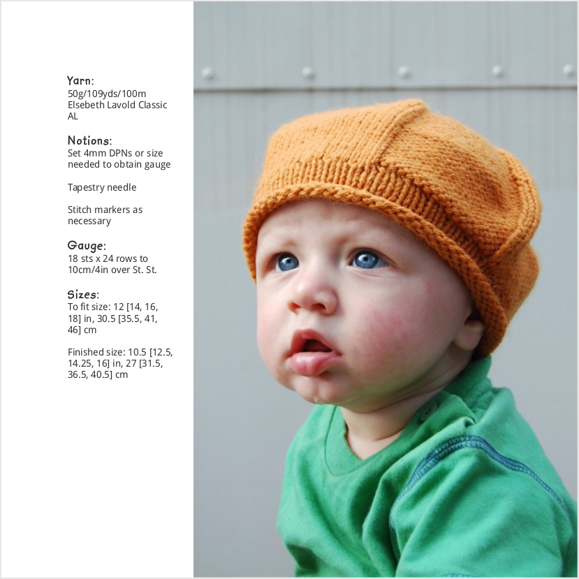 Propeller beret knitting pattern for babies and children