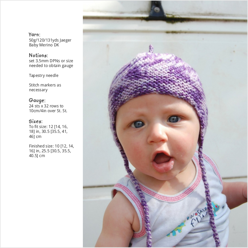 Kilkenny chullo Hat knitting pattern for babies and children