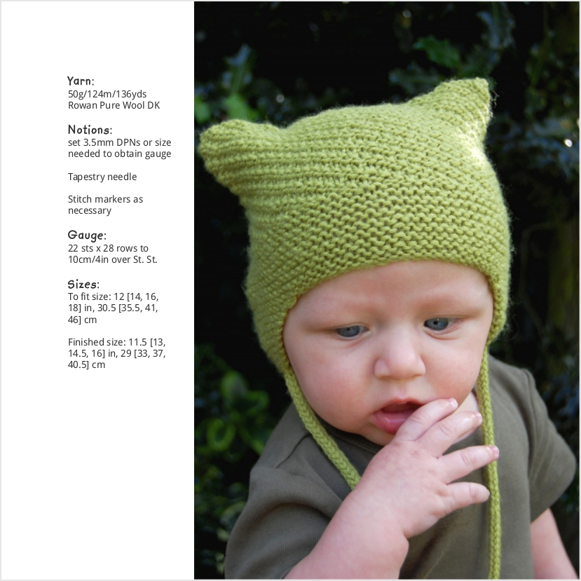 Cubba textured chullo Hat knitting pattern for babies and children