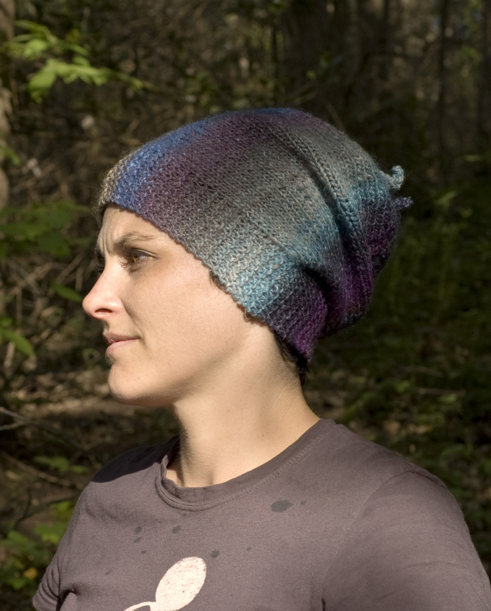 Abalone sideways knit slouchy Hat pattern