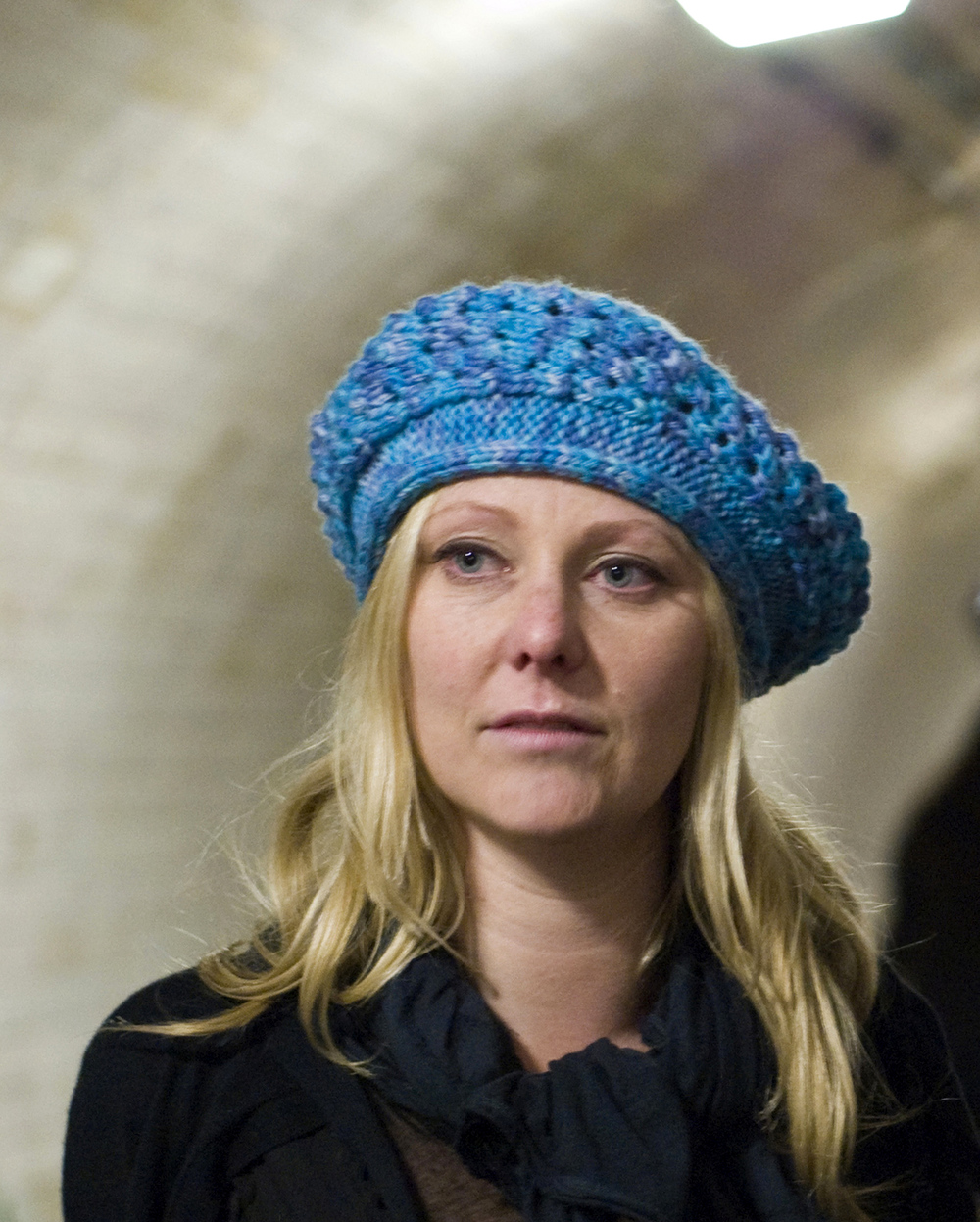 Trinity sideways knit beret pattern