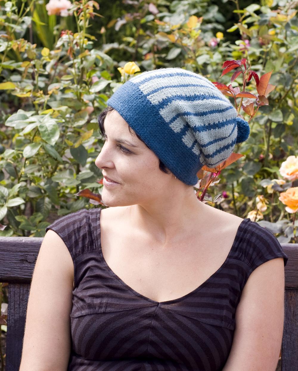 Marrow Joe sideways knit slouchy Hat pattern