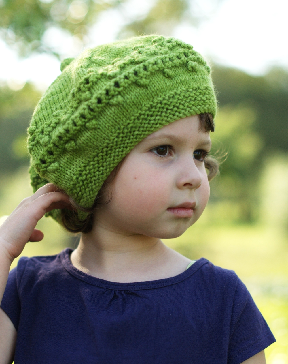 Aurora childs beret knitting pattern
