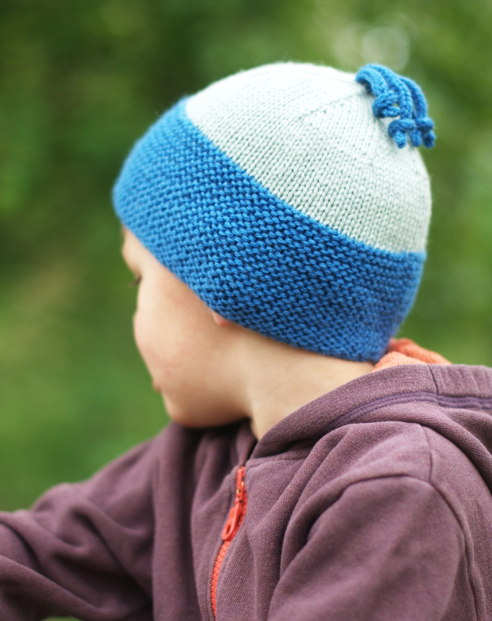 Beamish childs beanie hand knitting pattern