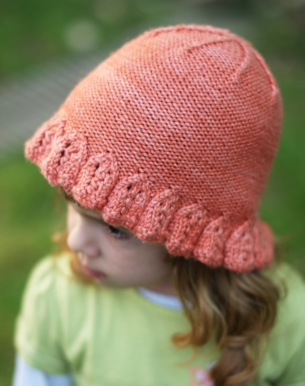 Emilia childs brimmed Hat knitting pattern