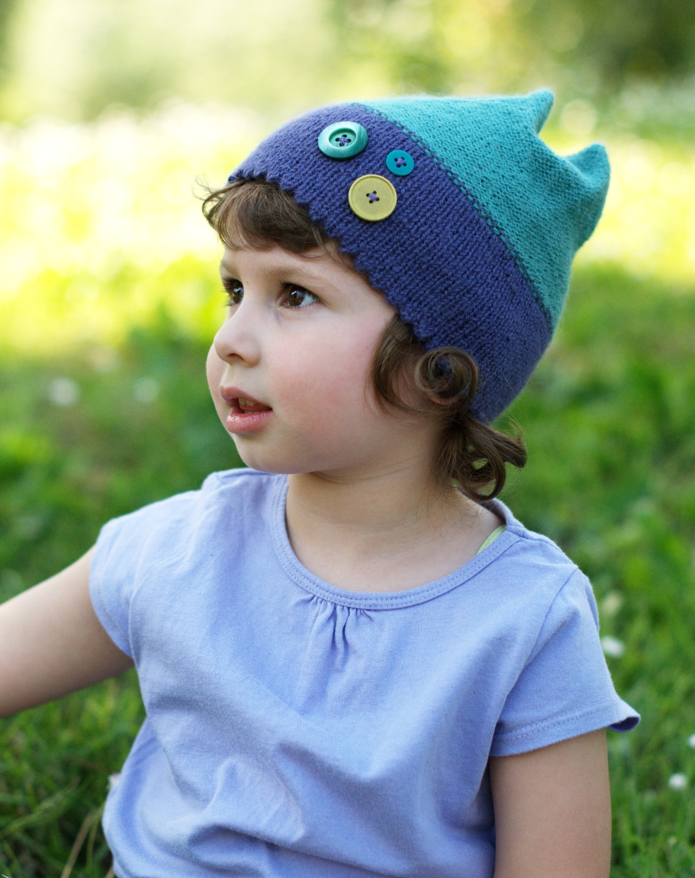 Quatra childs Hat hand knitting pattern
