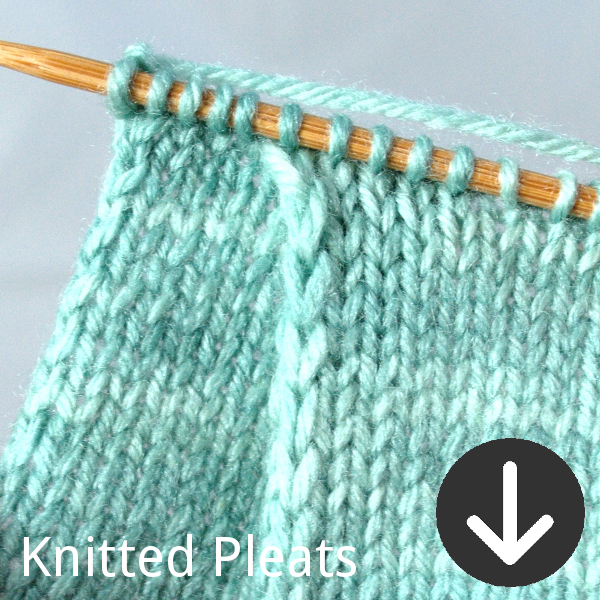 free PDF tutorial for knitted pleats