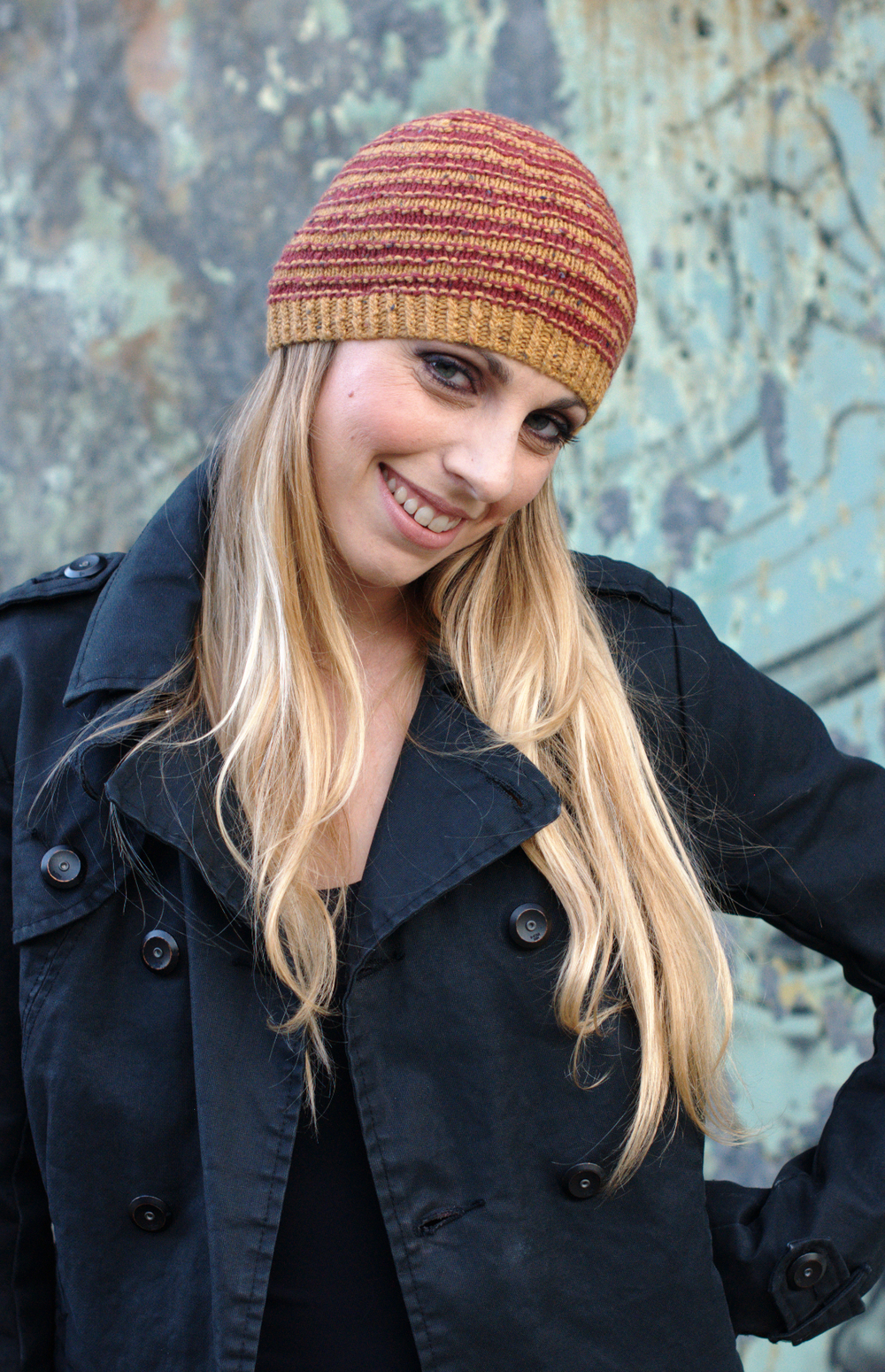Striato beanie and slouchy striped Hat knitting pattern