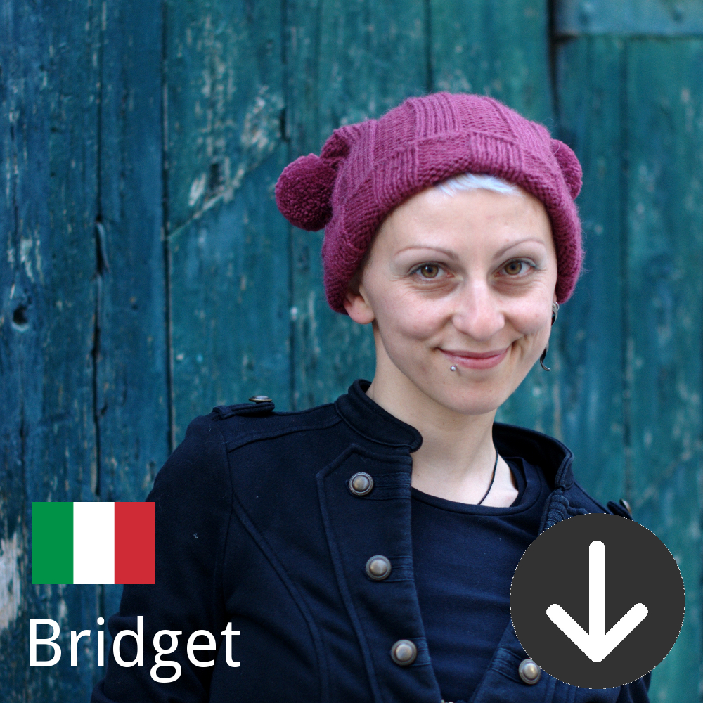 free Bridget Hat knitting pattern in Italian