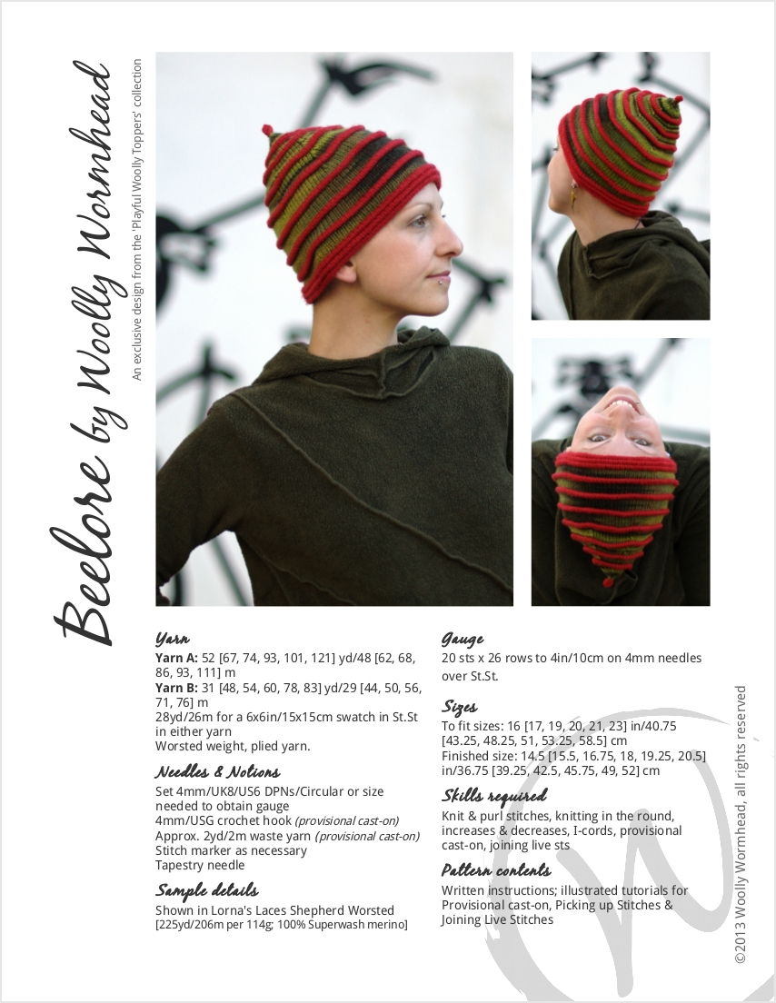 Beelore pixie Hat knitting pattern
