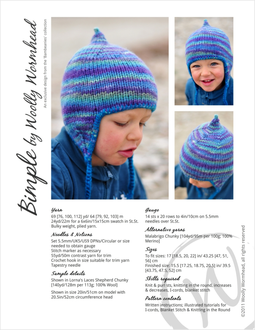 Bimple pixie chullo Hat knitting pattern