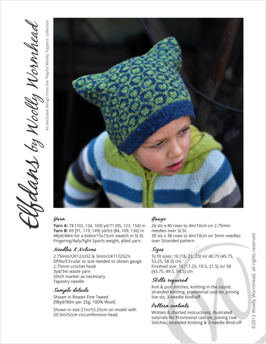 Elfdans fairisle Hat knitting pattern