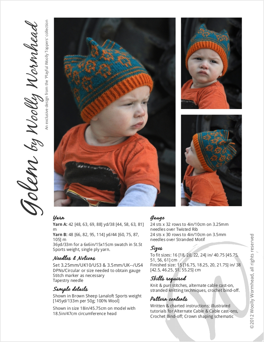 Golem fairisle Hat knitting pattern