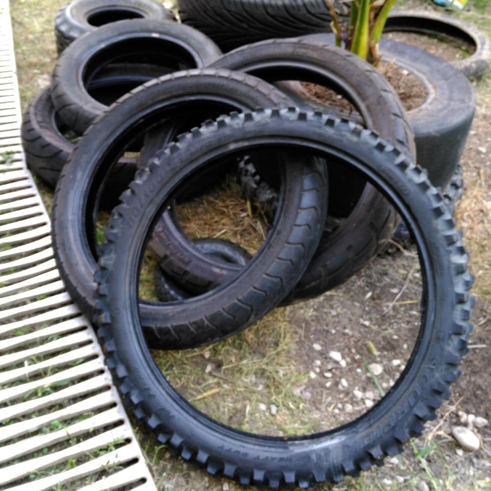 old motorbike tyres